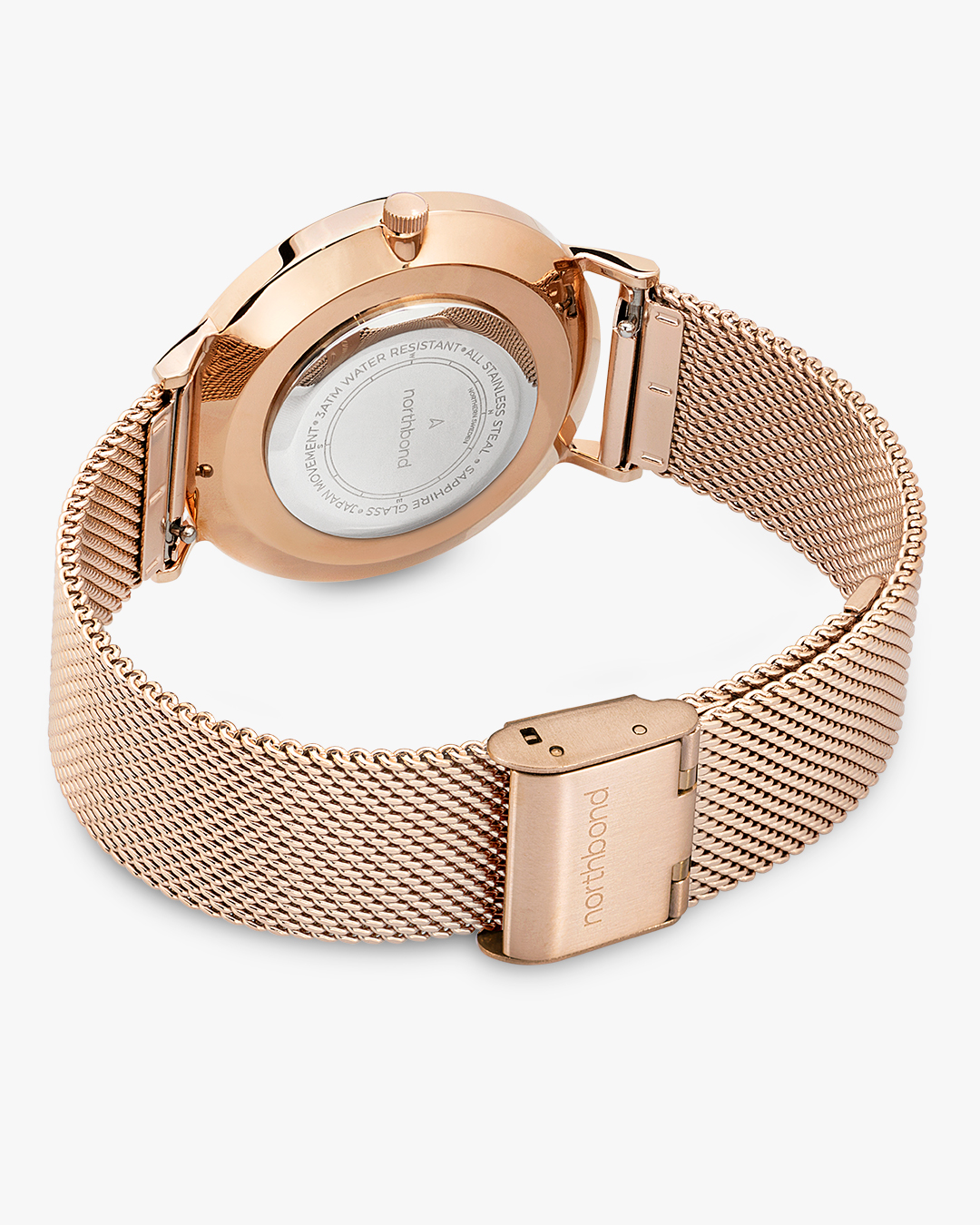 lace watch rose gold mesh strap