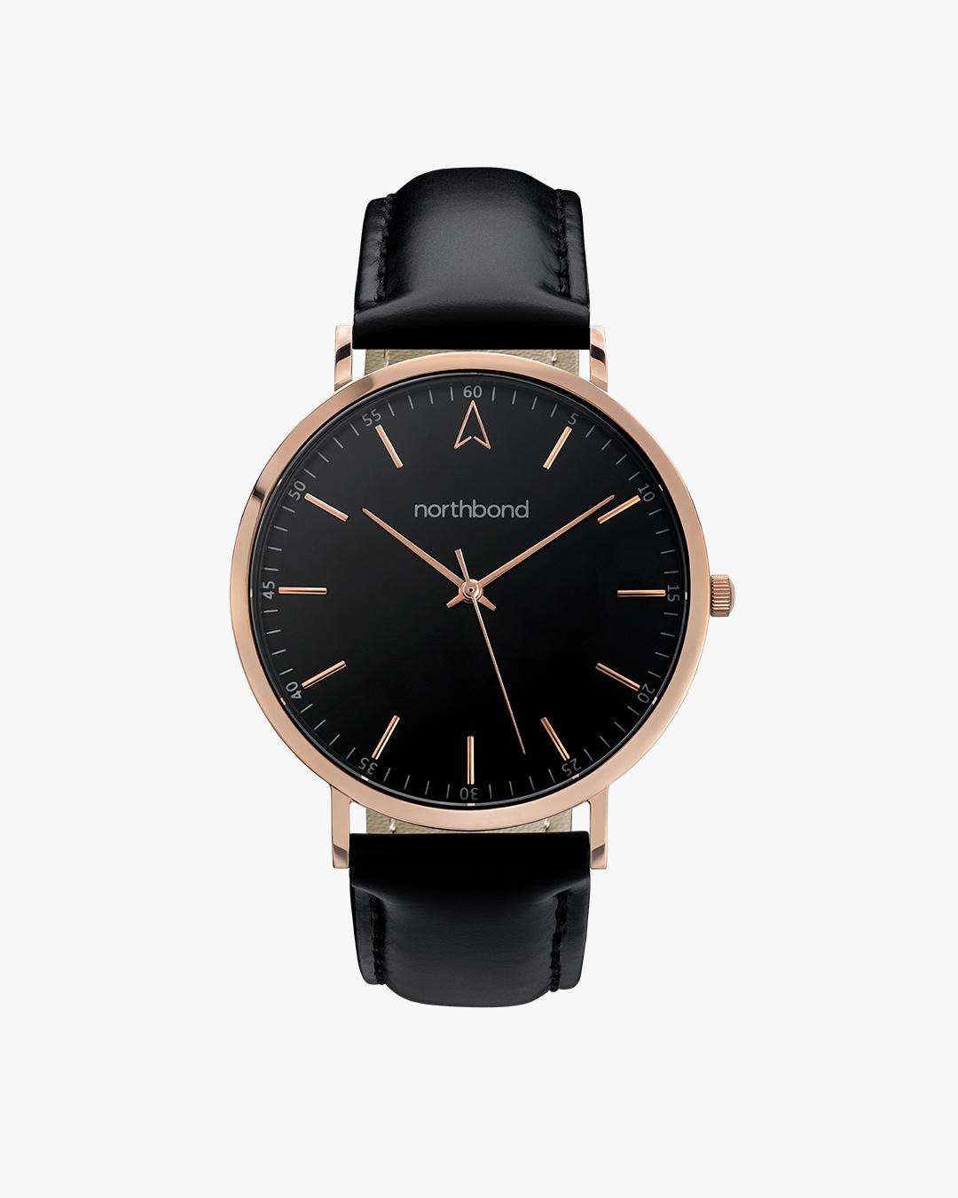 onyx watch black rose gold 40mm